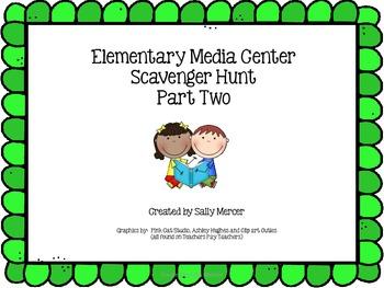 Elementary Media Center Scavenger Hunt Part 2