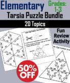 Elementary School: 1st to 3rd Grade Math Tarsia Puzzle Bundle