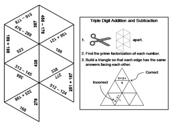Elementary School: 1st to 3rd Grade Math Tarsia Puzzle Bundle