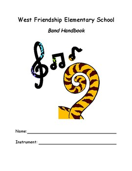 Elementary School Band Handbook (editable)