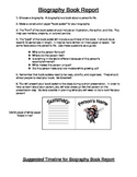 Elementary School Biography Book Report Project and Guidelines