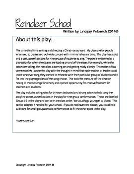 Elementary School Christmas Concert: Reindeer School