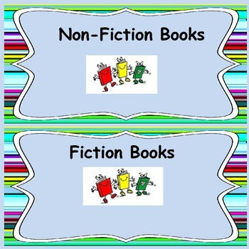Elementary School Class Library labels: various Genres