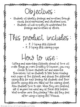 Elementary School Counseling Christmas Coping Skills Activity