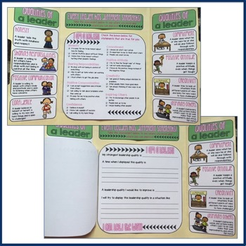 Elementary School Counseling Lap Book: Leadership Qualities
