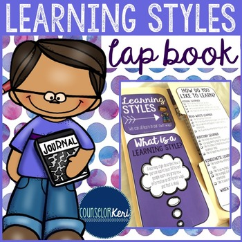 Learning Styles and Study Skills Lap Book for Elementary School Counseling