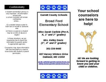 Elementary School Counseling program brochure