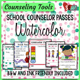 Counseling Office: Watercolor Elementary School Counselor Passes