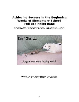 Full Beginning Band Method Book