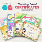Elementary School Graduation Diploma Certificates