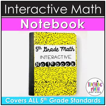 Elementary Interactive Math Notebook: 5th Grade BUNDLE