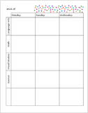 Elementary School Lesson Plan Book Template