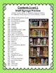 """Elementary School Library """"On the Shelf"""" Displays & Signs (Shelf Signage)"""