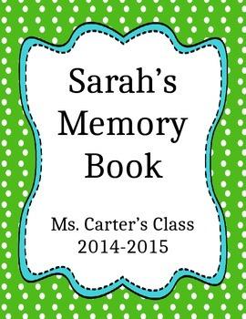 Elementary School Memories Book