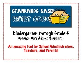 Elementary School  Report Card Standards - Kindergarten to