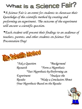Elementary School Science Fair Student Packet with Guidelines and Suggestions