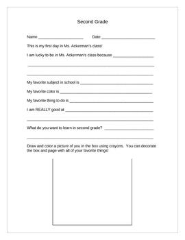 Elementary School Scrapbook Page