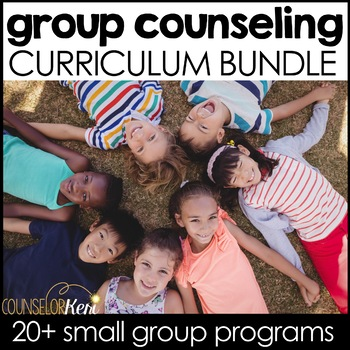 elementary school small group counseling curriculum bundle by