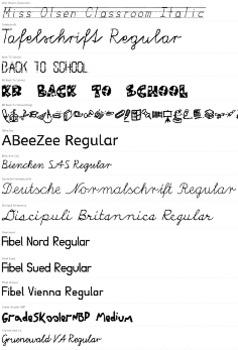 Elementary School Themed Fonts (MEGA PACK) - Over 30+ Fonts