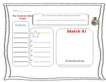 Elementary Science Assist for Note-taking.