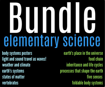 Elementary Science Bundle!