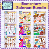 Elementary Science Clip art Bundle {324 IMAGES} Colored an