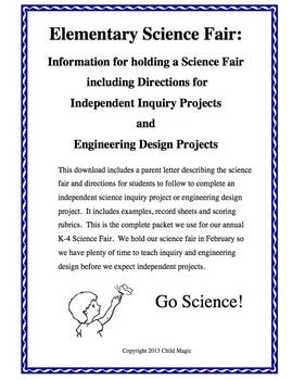 Combo Pack: Science Inquiry and Engineering Design Project Packets