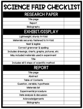 Elementary Science Fair Project Guide - Instructions/Planning/Examples/Checklist