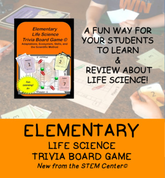 Elementary Life Science Trivia Board Game