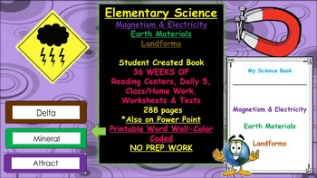 Elementary Science- Magnetism & Electricity + Earth Materials + Landforms