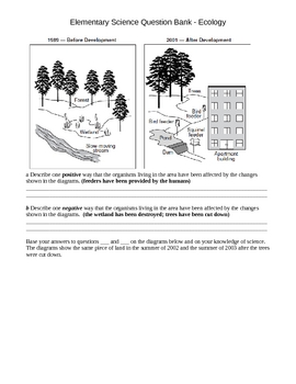 Elementary Science Question Bank - Ecology