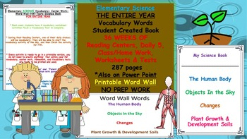Elementary Science-Human Body + Objects in the Sky + Change + Plant Growth/Soils