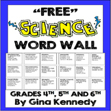 Science Word Wall, Great Way to Involve your Students in D