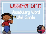 Elementary Science Weather and water cycle Unit vocabulary word wall cards