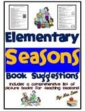 Elementary Seasons Book Suggestions