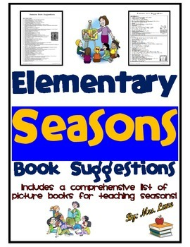 Elementary Seasons Book Suggestions