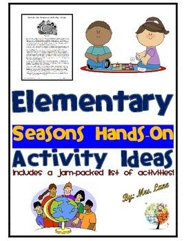 Elementary Seasons Hands-On Activity Ideas