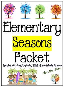 Elementary Seasons Packet (SUPER JAM-PACKED!)