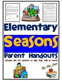 Elementary Seasons Parent Handouts (Help At Home)