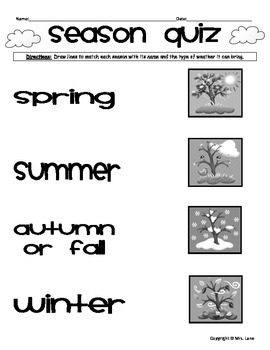 Elementary Seasons Reviews and Assessments