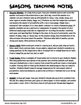 Elementary Seasons Teaching Tips
