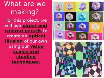 Elementary & Secondary Optical Illusion Art Project / Lesson Plan
