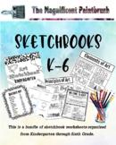 Elementary Sketchbook Jump Starter Worksheets