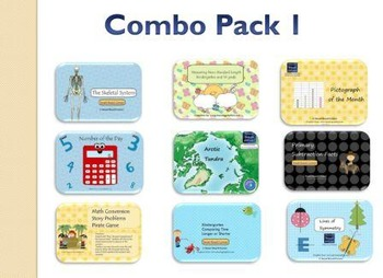 Elementary Smart Board Lessons Combo Pack 1