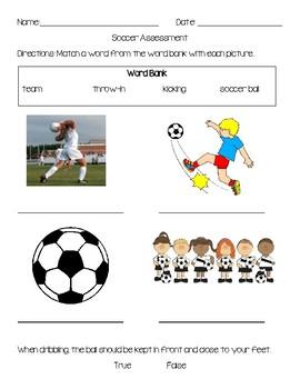 Elementary Soccer Assessment