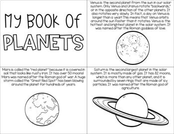 Sun, Moon, Planets, and Stars Solar System Unit