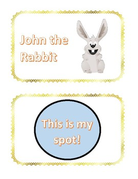 Elementary Song Cards:  John the Rabbit - This is my Spot!