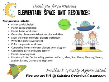 Elementary Space Unit Resources