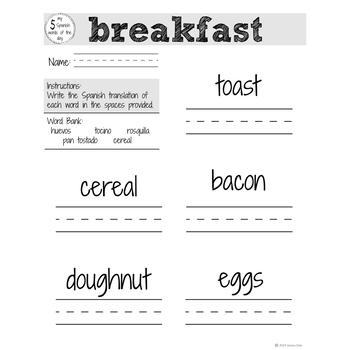 Spanish Food: Breakfast | Spanish Vocabulary