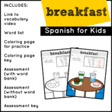 Spanish Food: Breakfast | Spanish Vocabulary